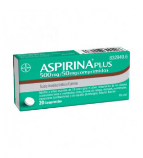 ASPIRINA PLUS 500 MG/ 50 MG...